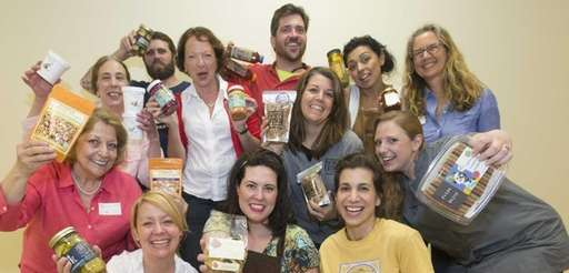 Entrepreneurs with their products at the first Spring