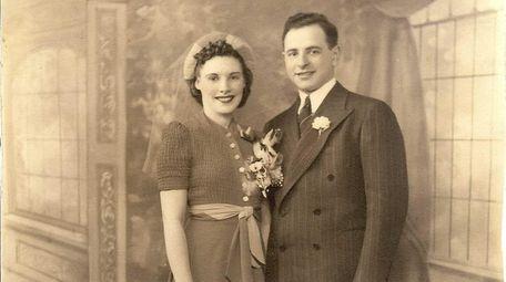 Joe and Rita Datz on their wedding day