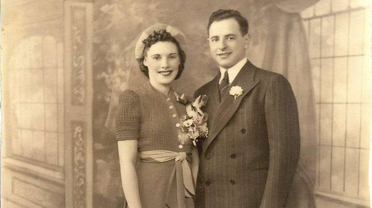 Joe and Rita Datz on their wedding day