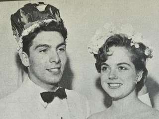 The royal couple at the 1956 Valley Stream