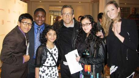 Kidsday reporters Daniel Zetino, Shamon Lawrence, Kimberly Palencia,