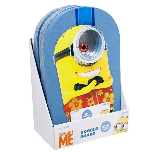 With the Minion Goggle Kickboard, kids can look