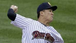 Yankees pitcher Masahiro Tanaka, playing for the Triple-A