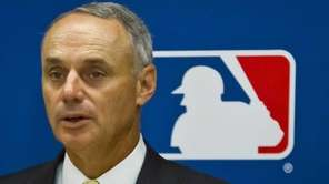 MLB commissioner Rob Manfred speaks during a press