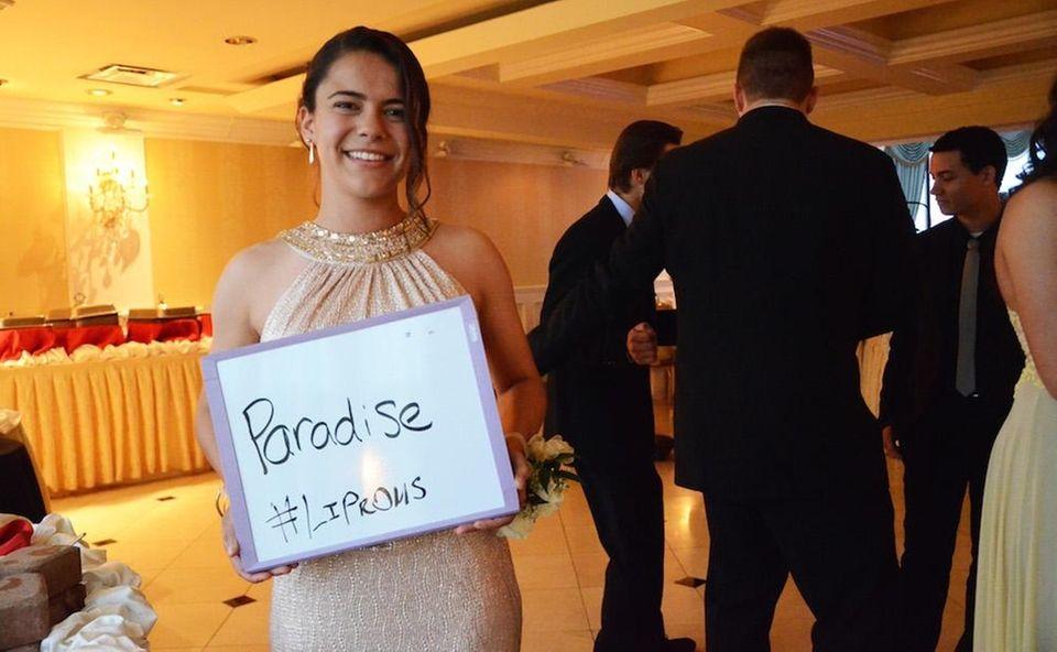Lutheran High School student Sarah Bouzaidi attends her