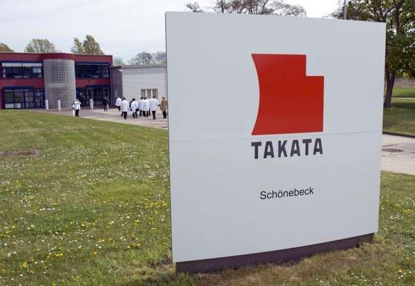 Journalists visit Takata Ignition Systems in Schoenebeck, Germany,