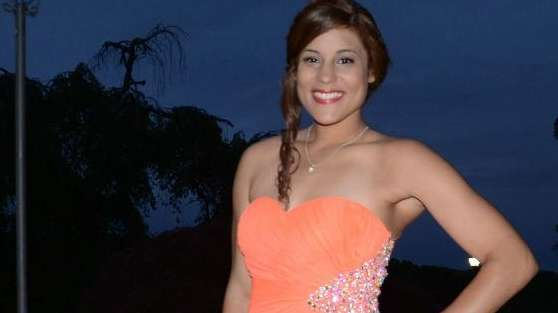Copiague High School senior Guillerni Almanzar looks radiant