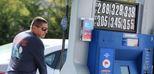 Joe Zito fills up his tank on Wednesday