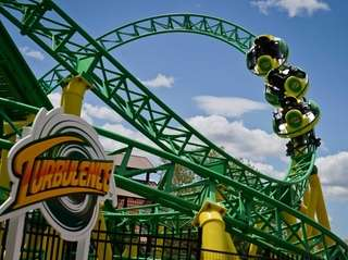 "The 55-foot high German-built roller coaster ""Turbulence,"" will"