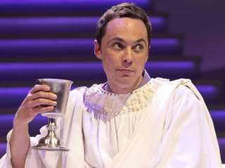 "Jim Parsons in ""An Act of God."""