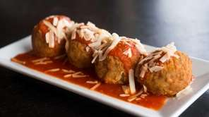 Eggplant meatballs Parmigiana are served at Lawson Pub