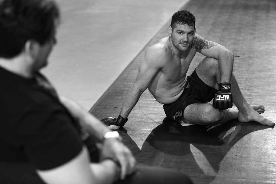 UFC middleweight champion Chris Weidman rests and talks