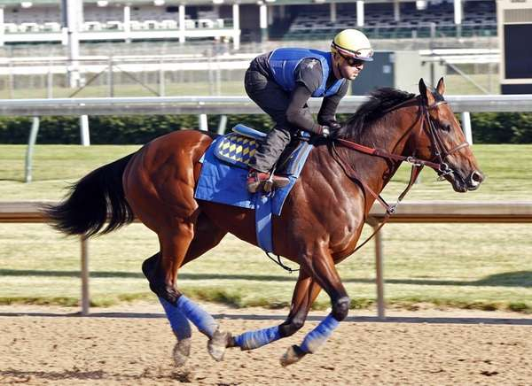 In this photo released by Churchill Downs, American