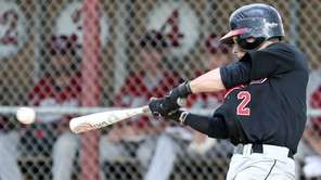 Plainedge's Ryan McGrane gets a hit to load