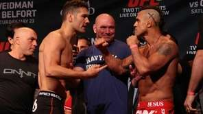 UFC middleweight champion Chris Weidman and challenger