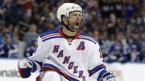 New York Rangers right wing Martin St. Louis,