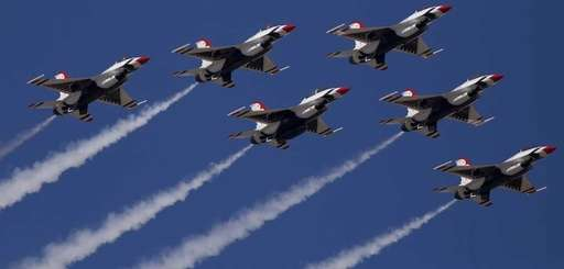 The Thunderbirds perform during the 12th annual Bethpage
