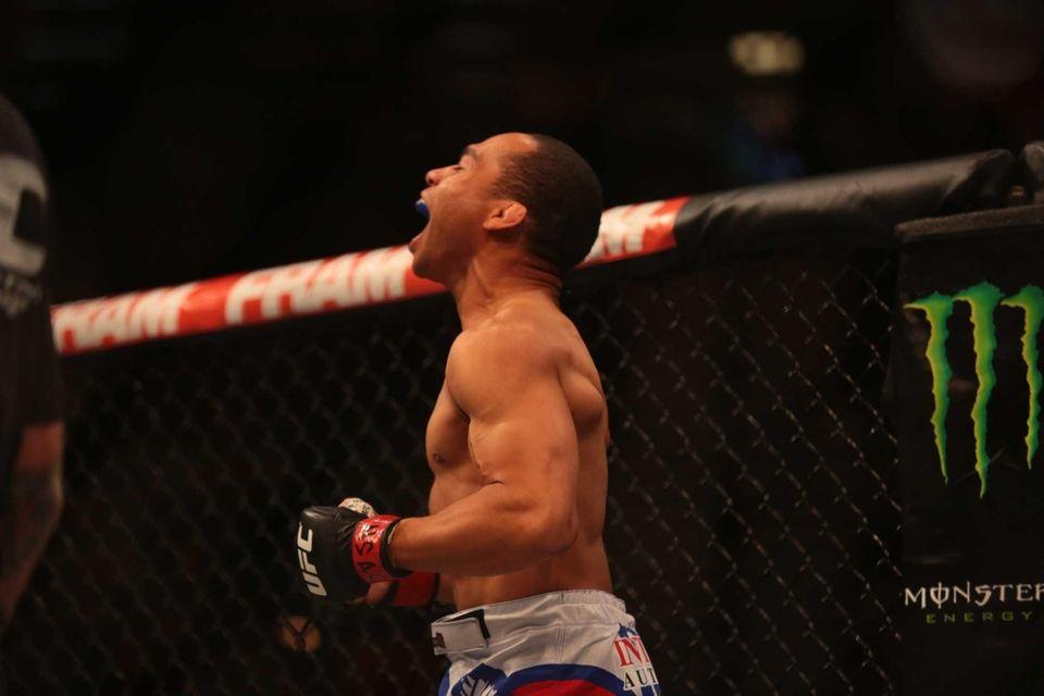 Flyweights John Dodson and Zach Makovsky fight at