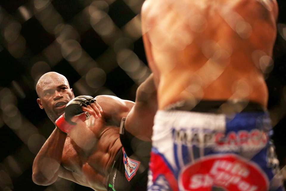 Middleweights Uriah Hall of Queens and fellow New