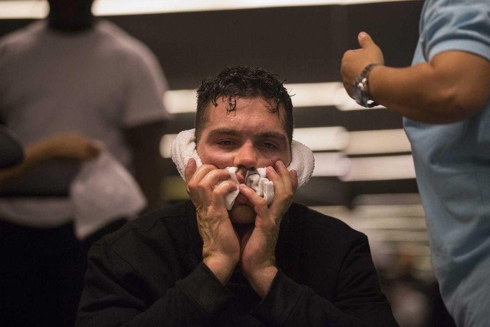 UFC middleweight champion Chris Weidman, from Baldwin, goes