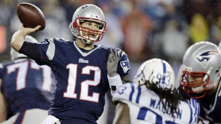 New England Patriots quarterback Tom Brady passes against