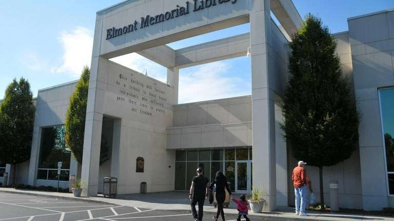 Elmont's public library is seen in this photo