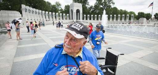 World War II veteran Eugene Heacock was among