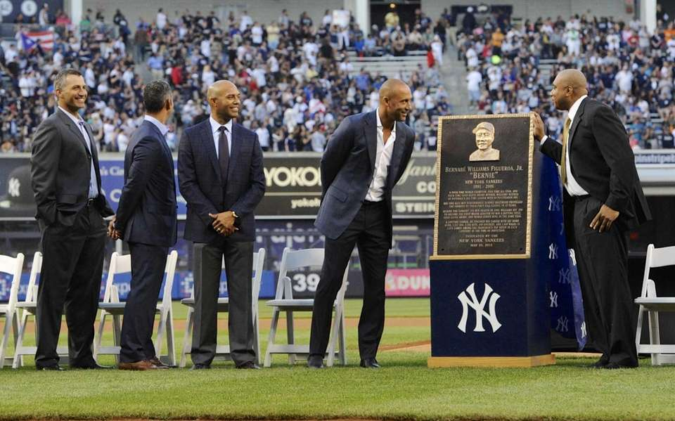 From left, former New York Yankees Andy Pettitte,