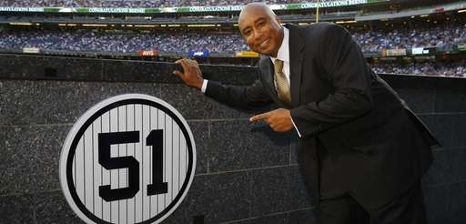 Former New York Yankees centerfielder Bernie Williams points