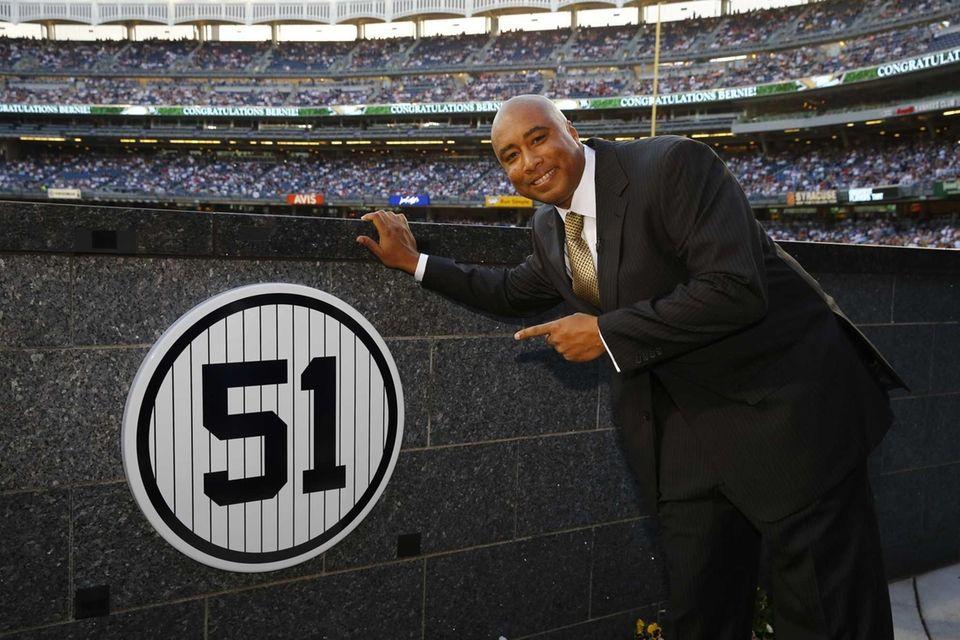 a3d9e86f5 Former New York Yankees centerfielder Bernie Williams points