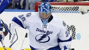 Ben Bishop #30 of the Tampa Bay Lightning