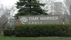 Time Warner Cable company logo seen in Rochester,