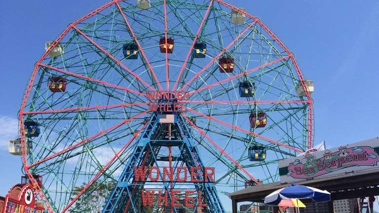 The Wonder Wheel, which opened in 1920, reaches