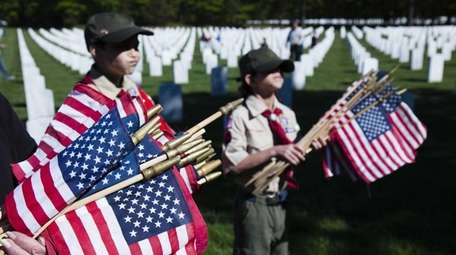 BSA Scout, troop #74 participates in the 21st