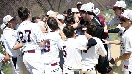 North Shore celebrates after a walk-off home run