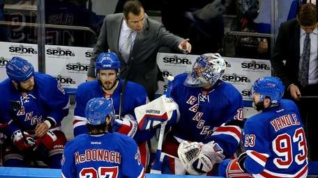 Alain Vigneault of the New York Rangers talks