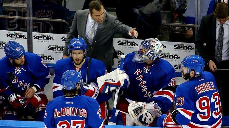 Alain Vigneault of the New York Rangers talks