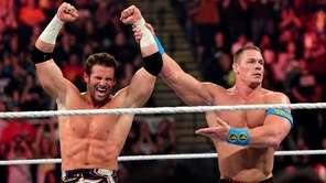 WWE wrestlers Zack Ryder and John Cena in