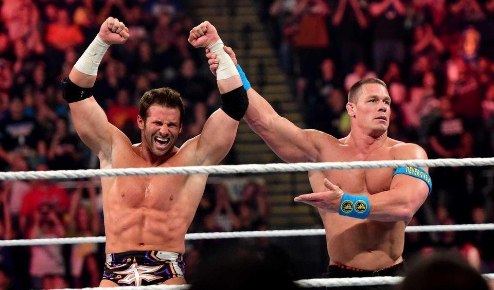WWE wrestlers Zack Ryder and John Cena in