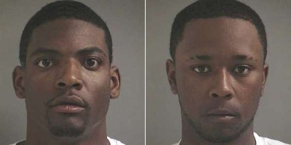 Reginald Thorton, 22, left, and Daquan McCall, 21,