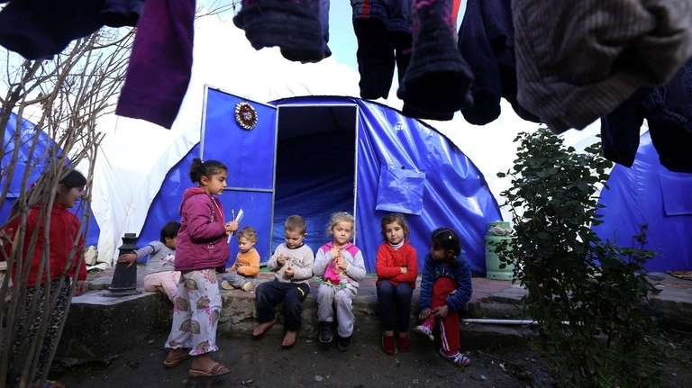 Iraqi Christian children who fled the violence in