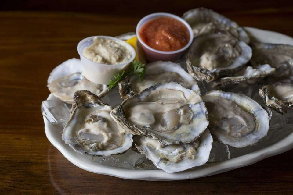 Oysters on the half shell at Chowder Bar