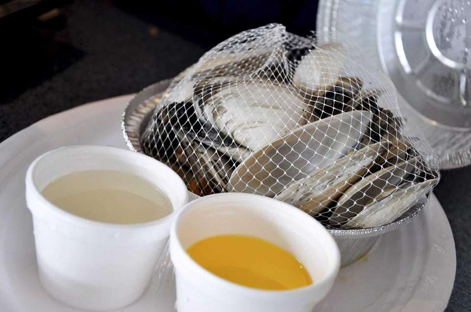 Steamers are served at the Point Lookout Clam