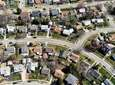 Aerial views of homes in Levittown, Nassau County