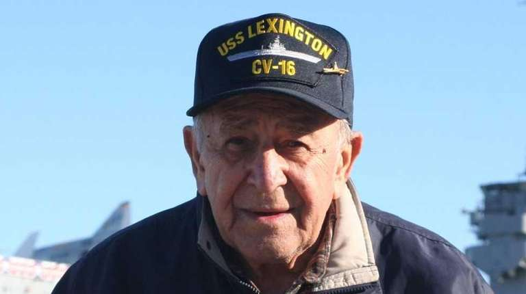 World War II veteran Dominic Dantona, is shown