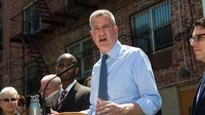Mayor Bill de Blasio, seen in Queens on