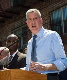 Mayor Bill de Blasio, seen in Queens on