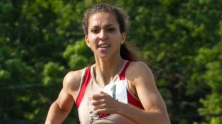 Sachem East's Aexandra DeCicco runs during the girls