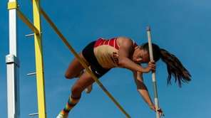 Sachem East's Kerstyn Ciulla clears the pole at