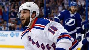 Derick Brassard #16 of the New York Rangers
